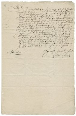 Connock, Richard. Letter. To Sir George More.