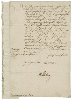 Great Britain. Privy Council. Warrant to Sir George More, Lieutenant of the Tower. York House.