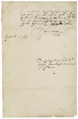 Winwood, Sir Ralph. Letter. To Sir George More.