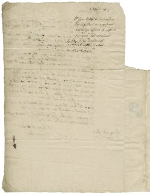 More, Sir George. Letter. To Sir Poynings More.