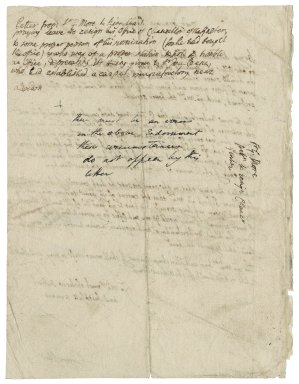 More, Sir George. Petition to Charles I, in More's autograph.