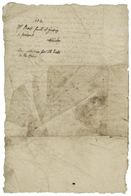 Pratt, Robert. Letter. To Sir George More. Puddington.