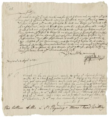 Cobden, Matthew. Letter. To Poynings More. Haslemere.