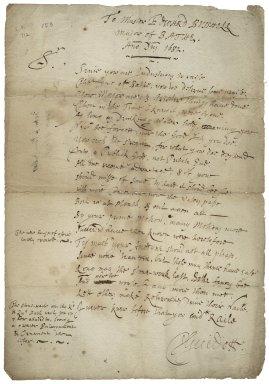 Guidott, Thomas. Verses addressed to Edward Busshell, major [sic] of Bath.