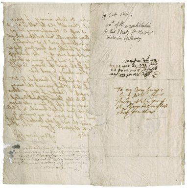More, Sir George. Letter. To George Austen, clerk of the peace for Surrey.