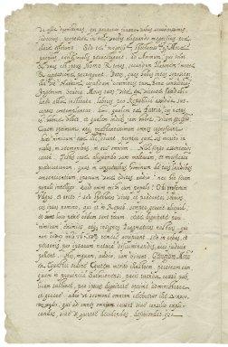 Bill, Charles. Epistle, in Latin and Greek. To Sir George More, e fundo Billinoportae, Kalendis, Februarijs,