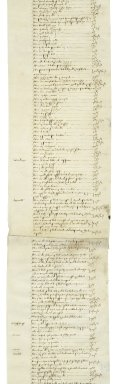 Cawarden, Lady Elizabeth. The inventory indented of all & Singuler the goodes and cattalles which late were Sir Thomas Cawarden knight Deceased Taken by Dame Elizabeth Carden Wydow ... and by William More Esqyre Executors ... the ffyveth Daye of October Anno Domini 1559.