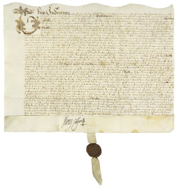 More, Sir George. Bargain and sale of part of a messuage in the Blackfriars to Henry Brooke, 11th Baron Cobham.