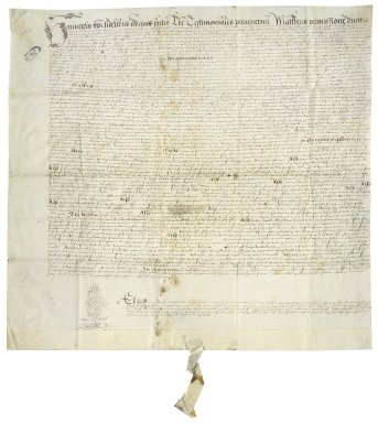 Canterbury, England (Province). Prerogative court. Letters testimentary. Probating the will of Thomas Cawarden. London.