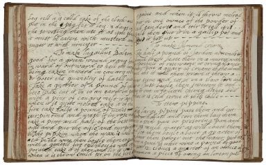 Cookbook of Constance Hall [manuscript], 1672.