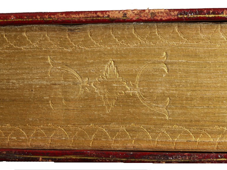 Gauffered fore-edge (detail), STC 2273 fo.1 no.13.