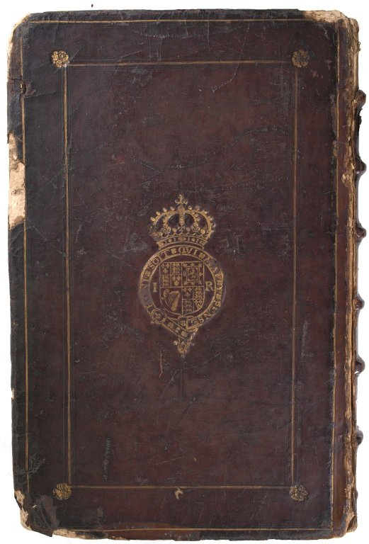 Back cover with James I coat of arms, STC 2188.