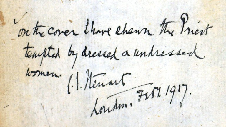 Inscription inside book by C.S. Stewart, 265527.