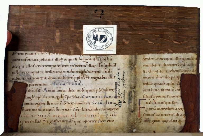 Manuscript pastedown, INC P700.