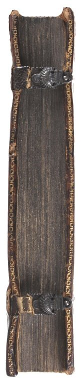 Fore-edge and clasp (detail), STC 985.
