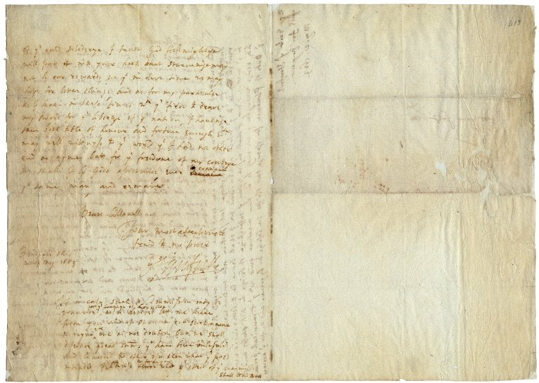 Letter from Henry Grey, Earl of Stamford, at Bradgate, [Leistershire] to Colonel [Bennet]