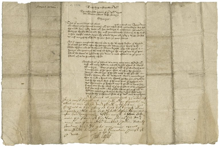 Jermyn, Ralph. To James I. A petition. October 23, 1604./Caesar, Sir Julius. To Christopher Heydon and Nathaniel Bacon.