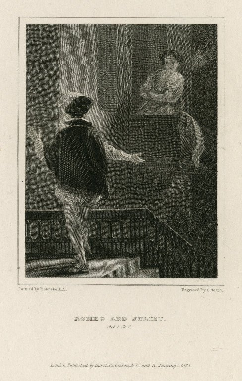 Romeo and Juliet, act 2, scene 2 [graphic] / painted by R. Smirke, R.A. ; engraved by C. Heath.
