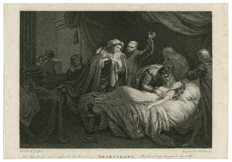 Romeo and Juliet, act 4, scene 5 [graphic] / Opie ; engraved by J.P. Simon.