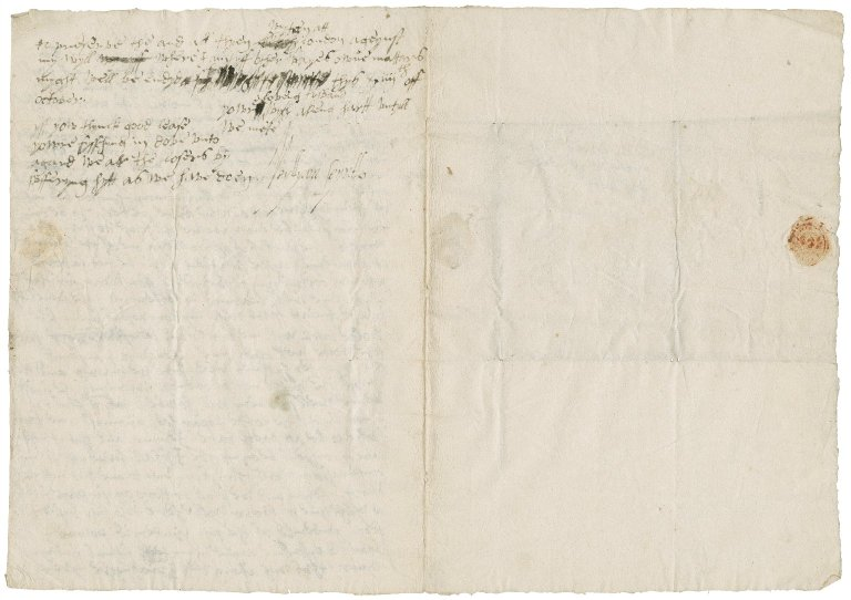 Letter from Sir William St. Loe, London, to Lady Elizabeth St. Loe, Chatsworth
