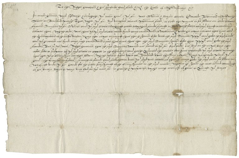 Petitions from Edward Bramall to Gilbert Talbot, Earl of Shrewsbury