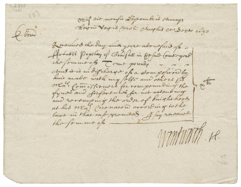 Acquittance from West Riding, Yorkshire, to Francis Popeley of Gomersal