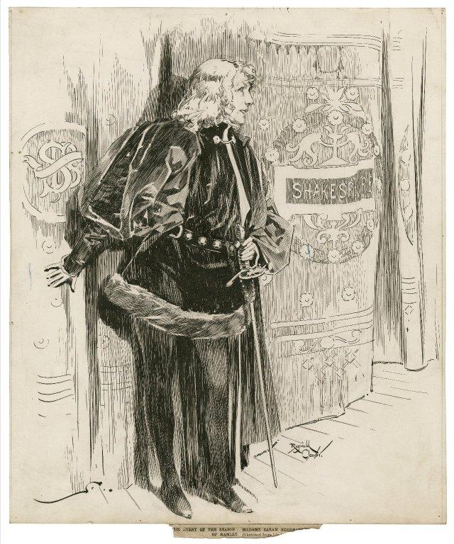 Folger Shakespeare Library Digital Image Collection: Sarah Bernhardt as Hamlet