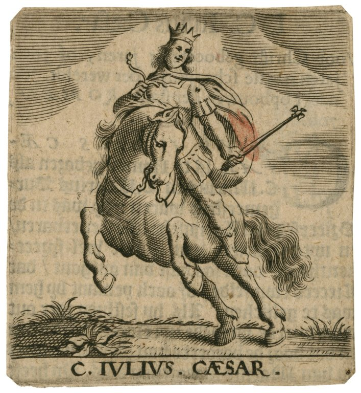 [A set of 12 engravings of Roman emperors on horseback] [graphic].