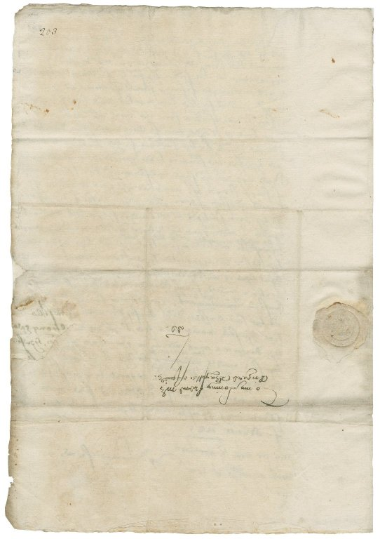 Letter from William Cecil, 1st Baron Burghley, London, to Richard Bagot
