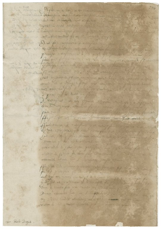 Letter from William Cecil, 1st Baron Burghley, the Court, to Richard Bagot