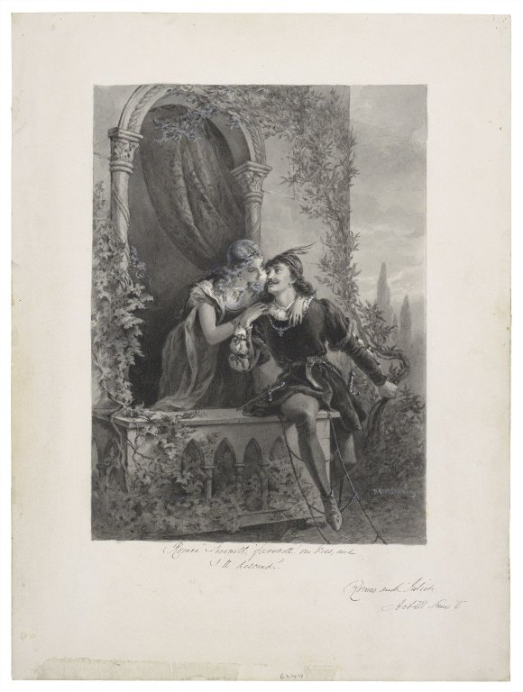 "Romeo. ""Farewell, farewell! One kiss and I'll descend"", Romeo and Juliet, act III, scene V [graphic] / F.O.C. Darley."