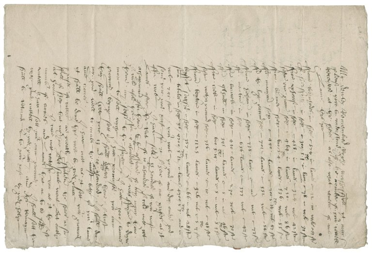 Letter from Edmond Anguishe to Roger Townshend (1543?-1590)