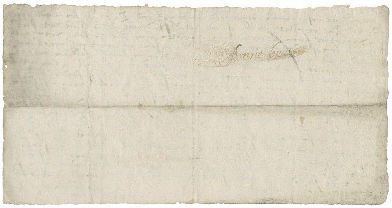 Letter from Anne (Gresham) Bacon to Lady Anne (Cooke) Bacon : draft