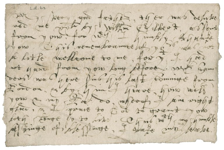 Letter from Lady Anne (Gresham) Bacon to [Sir Thomas Gresham?]