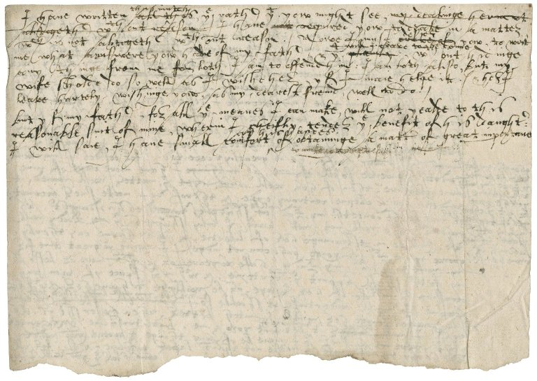 Letter from Nathaniel Bacon to Anthony Stringer : autograph manuscript draft