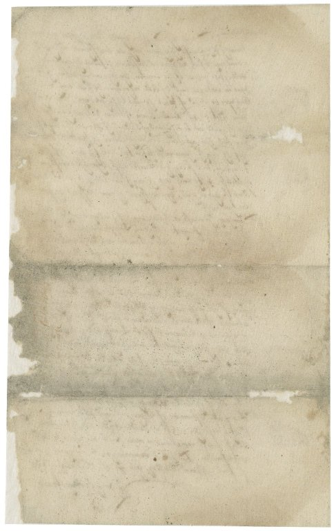 Letter from Nathaniel Bacon to unknown recipient