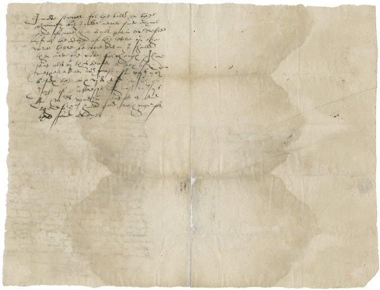 Letter from John Baker to Nathaniel Bacon