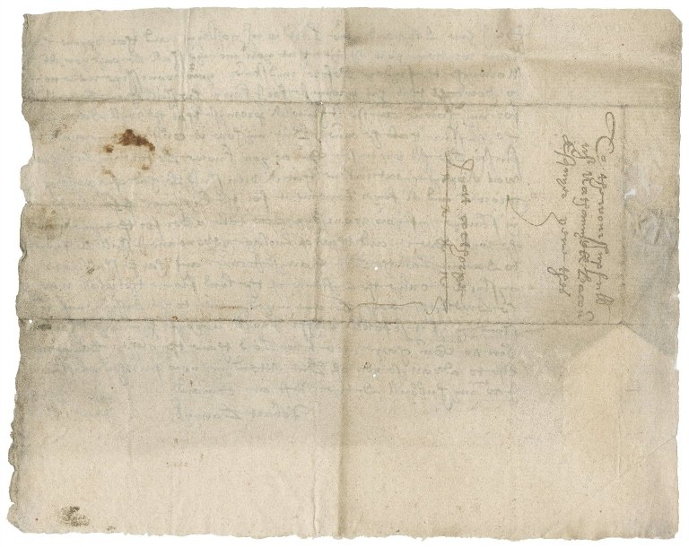 Letter from Robert Barwick to Nathaniel Bacon