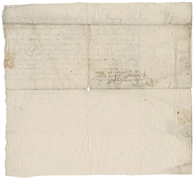 Letter from Bernard Base to Nathaniel Bacon