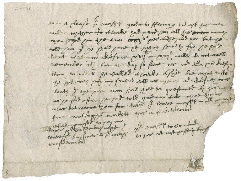 Letter from John Bozeys to Nathaniel Bacon