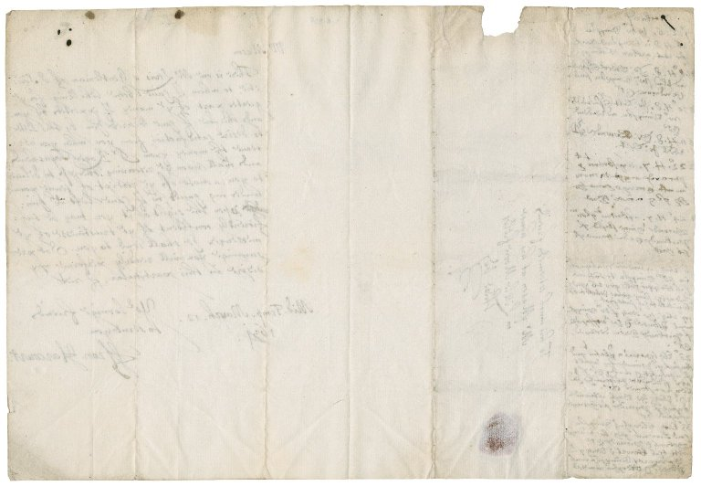 Letter from Francis Harcourt to Master Mason