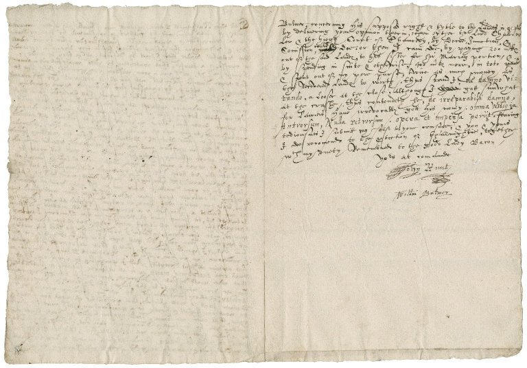 Letter from John Hunt and William Butwer to Nathaniel Bacon