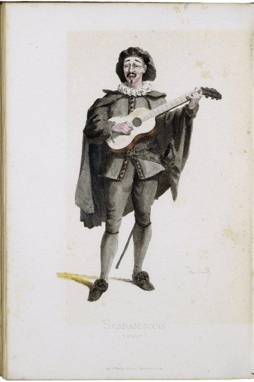 Masques et bouffons (Comédie Italienne) : teste et dessins / par Maurice Sand ; gravures par A. Manceau ; préface par George Sand.