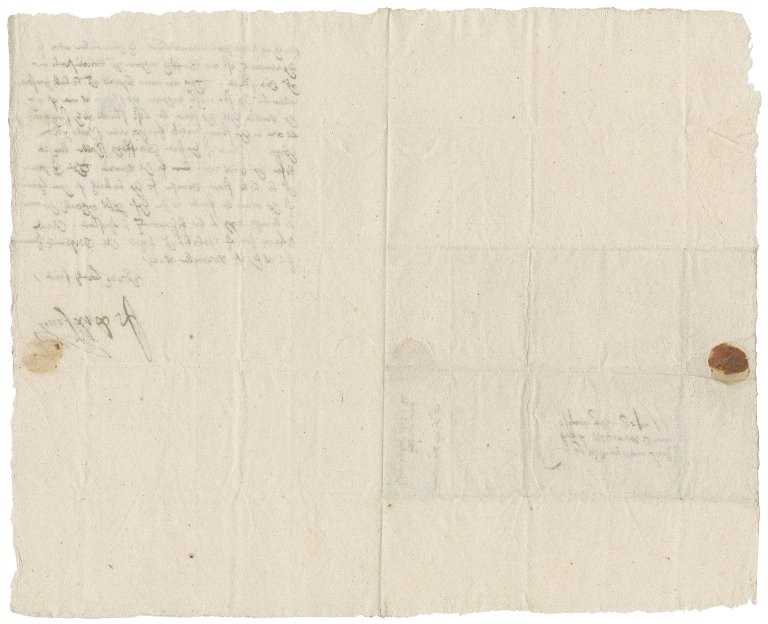 Letter from Sir John Popham to Nathaniel Bacon