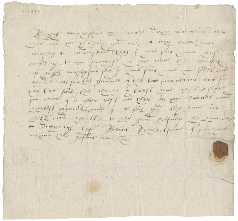 Letter from Robert Richardson to Nathaniel Bacon