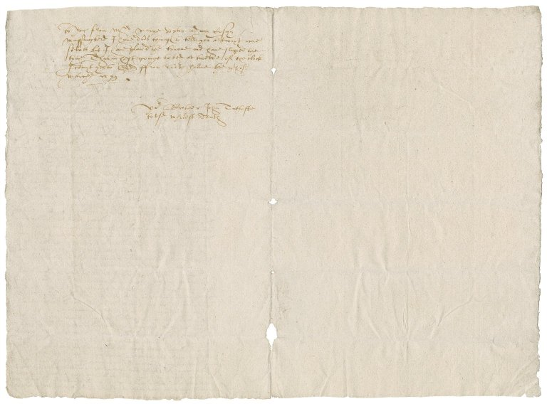 Letter from John Tuttoft to Anne Tuttoft : copy