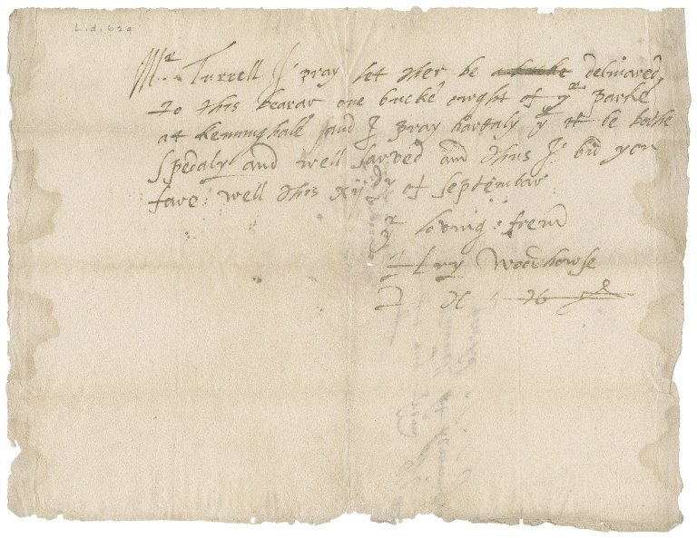 Letter from Henry Woodhouse to Master Turrell