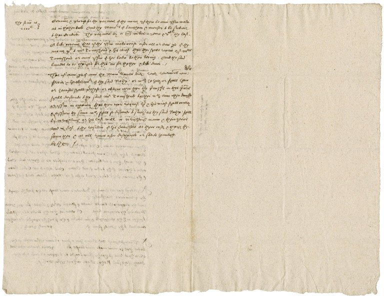 Notes by Nathaniel Bacon of an agreement concerning marriage between Lady Anne Bacon and Sir John Townshend : copy