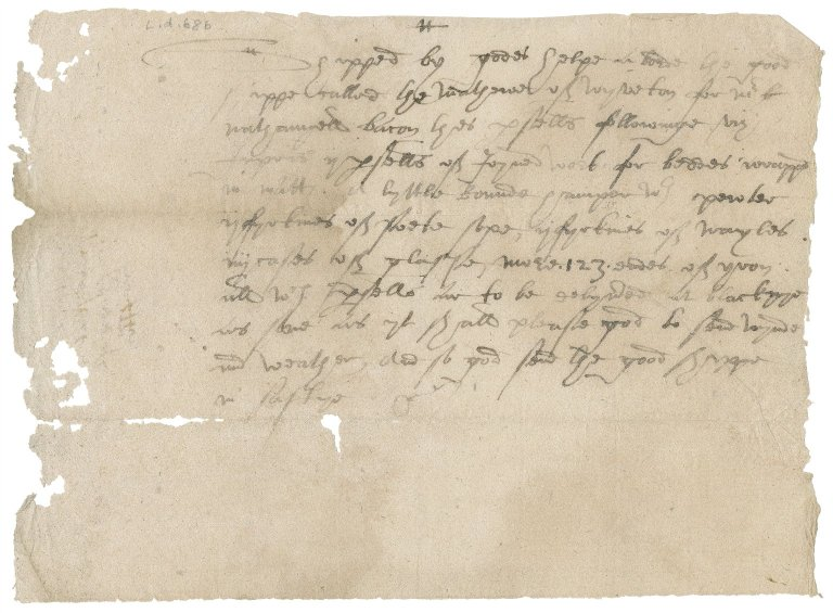 Notes of goods shipped from London to Blakeney for Nathaniel Bacon
