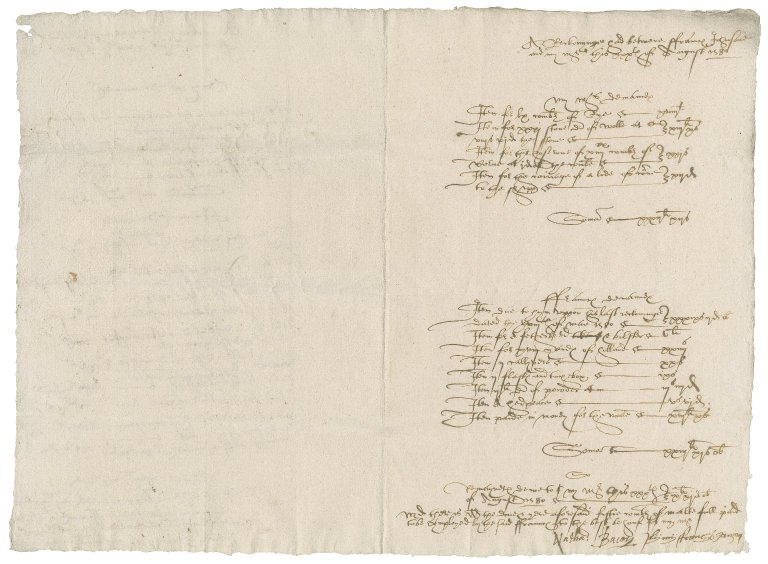 Accounts between Nathaniel Bacon and Francis Johnson, ship captain